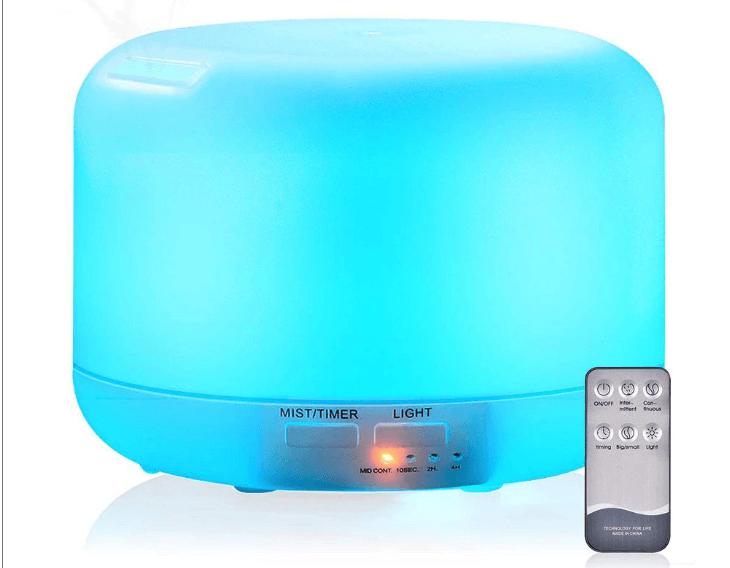 Remote control aromatherapy diffuser