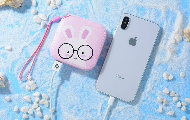 Universal Mobile Phone Leather Cartoon Power Bank
