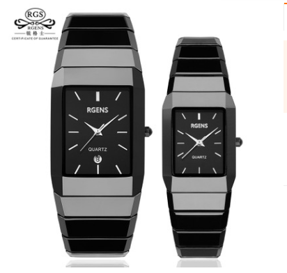 Classic Black Ceramic Fashion Watch 3