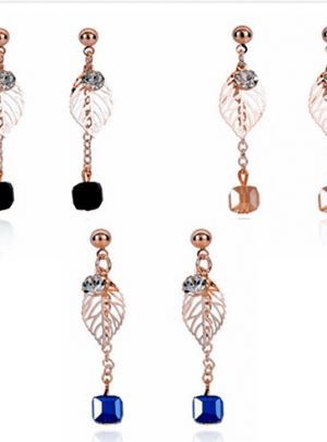 Dangle Chain Pearl Stud Earrings