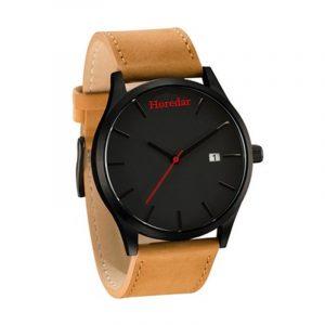 Men's Leather Belt Round Face Quartz Watch