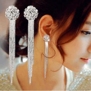 Long Tassel Bridal Earrings For Women