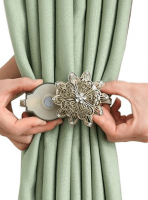 Decorative Punch-Free Curtain Hook Magnet Strap