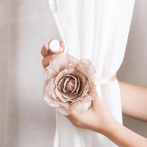 Magnetic Flower Curtain Hookless Holder