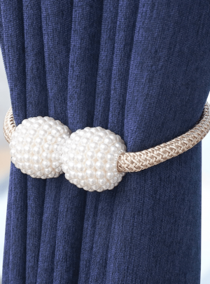 Simple Pearl Decorative Magnet Curtain Strap