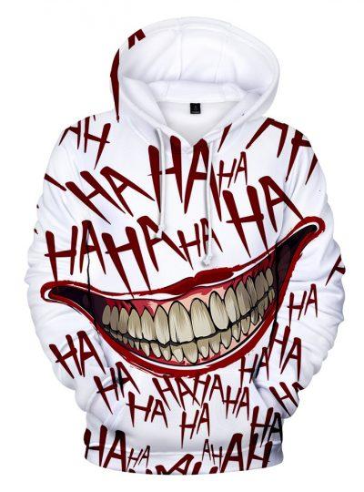 3D Print Haha Joker Sweatshirt-Sleeved Hoodie For Men And Women
