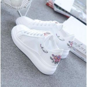 Breathable Mesh White Shoes