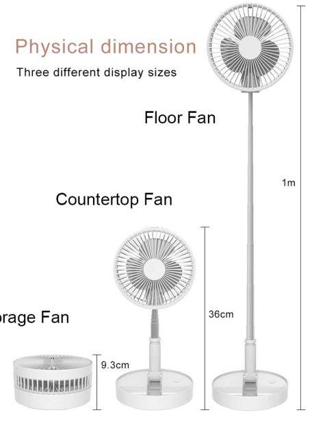 New Telescopic Folding USB Rechargeable Fan