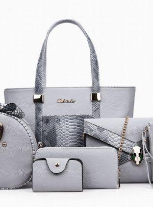 5 Piece Elegant Leather Bag Sets