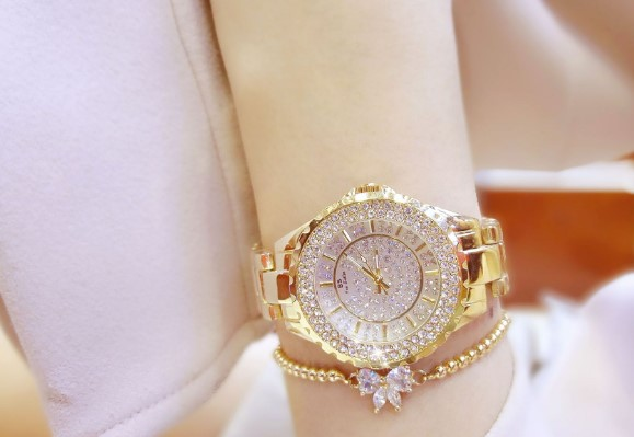 High-End BS Diamond Wristwatch