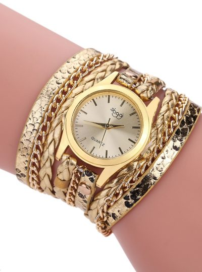 Ladies Winding Bracelet Quartz Watch