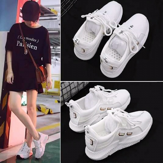 Spring And Summer New Breathable White Shoes