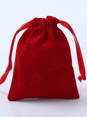 Drawstring Velvet Jewelry Gift Bag
