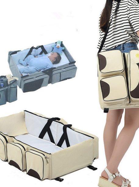 Foldable Crib Bag Portable Mother And Baby Bag Travel Bed