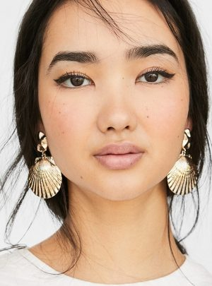 Irregular Shape Alloy Shell Earrings