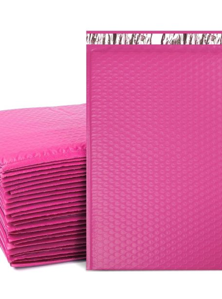 Poly Bubble Mailer Pink Self Seal Padded Envelopes Pack 4