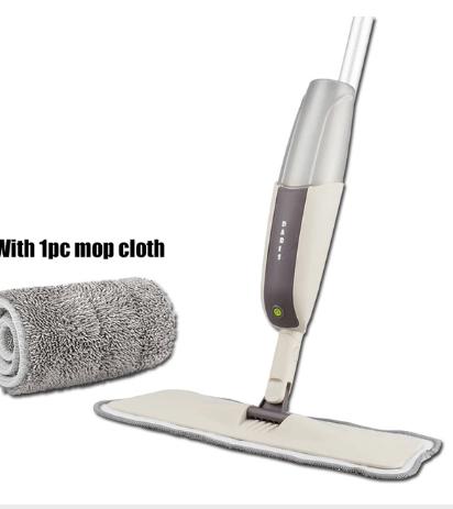 Spray Floor Mop with Reusable Microfiber Pads