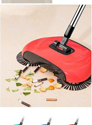 Superb 3-in-1 360 Degree Rotating Hand Push Sweeper Broom