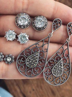 Dazzling Opal Bohemian Stud Long Earrings
