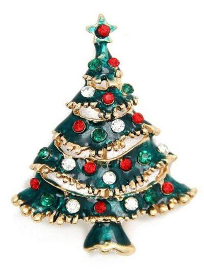 Christmas Tree Christmas Brooch