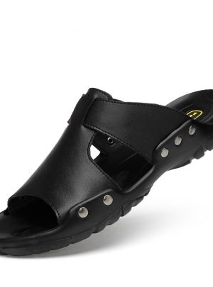 Leather Slippers For Men Sandals