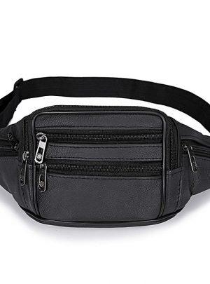 Men Large Capacity Adjustable Release Buckle Belt Waist Bag - 10k