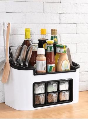 Multi-Function Kitchen Rack Seasoning Box