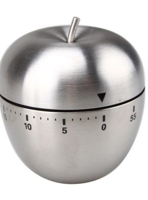 Stainless Steel Apple Shaped Kitchen Timer